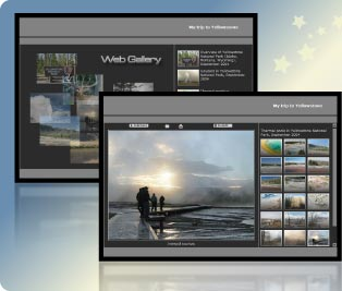 Sample HTML gallery pages generated by the program